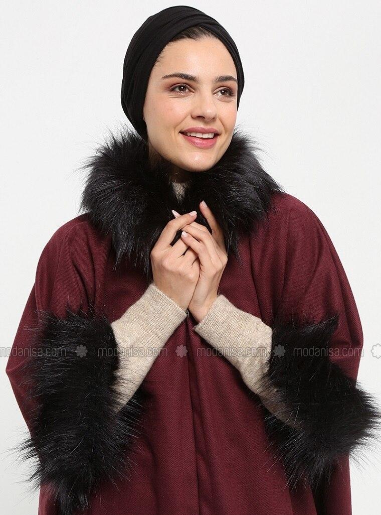 Pinless - Plain - Black - Viscose - Combed Cotton - Shawl