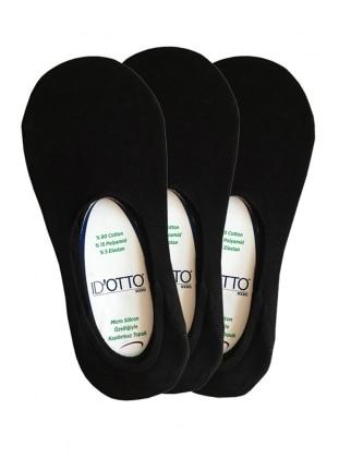 3`lü Paket Babet Çorap - Siyah