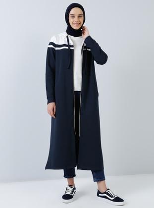 White - Navy Blue - Ecru - Tunic