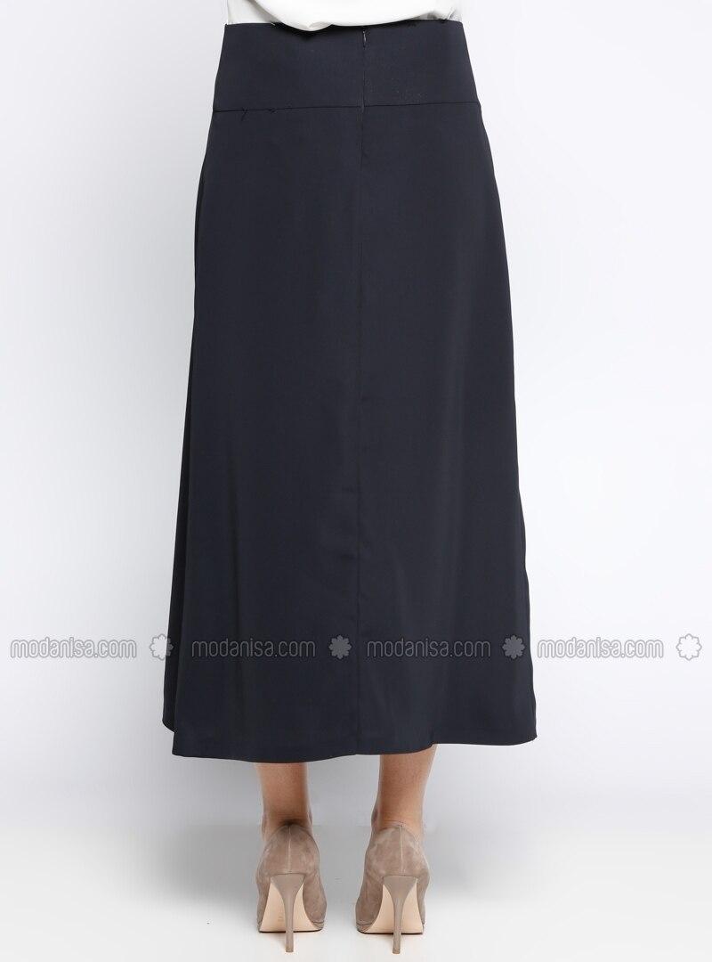 navy blue fully lined skirt mileny