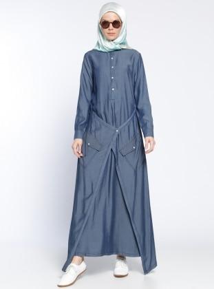 Kot Elbise - Mavi