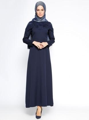 Payet Detaylı Abiye Elbise - Lacivert BÜRÜN