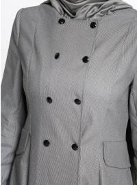 Unlined - Multi - Gray - Black - Crew neck - Topcoat