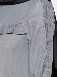 Unlined - Crew neck - Gray - Denim - Dress