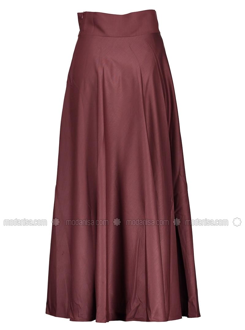 maroon fully lined skirt refka
