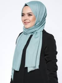Petrol - Plain - Viscose - Shawl