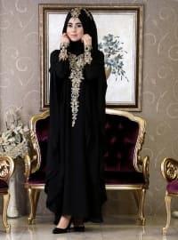 Hürrem Abaya - Siyah - İz Otantik