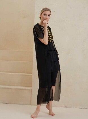 Faika Plaj Elbisesi - Siyah