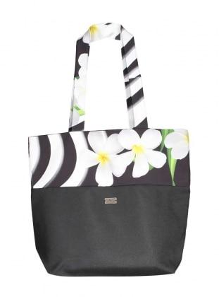 Orkide Plaj Çantası - Siyah Mayovera