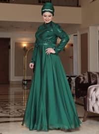 Berra Abiye Elbise - Zümrüt - Saliha
