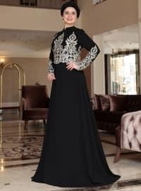Hüma Abiye Elbise - Siyah - Saliha