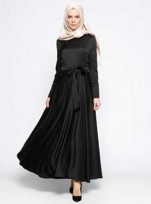 Bebe Yaka Elbise - Siyah