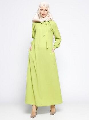 Gipeli Elbise - Açık Yeşil