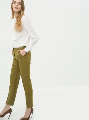Klasik Pantolon - Yağ Yeşili