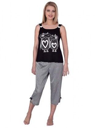 Pijama Takımı - Siyah - I&D LINGERIE