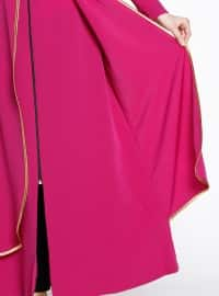 Pink - Unlined - Crew neck - Abaya