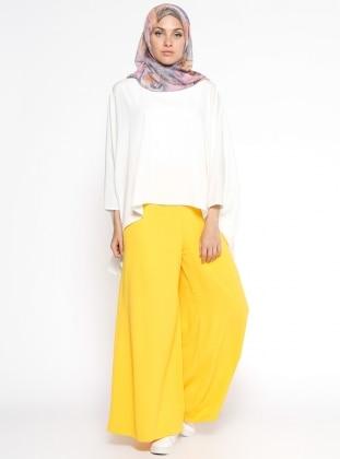 Bol Paça Pantolon - Sarı