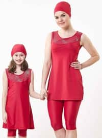 Maroon - Half Covered Switsuits