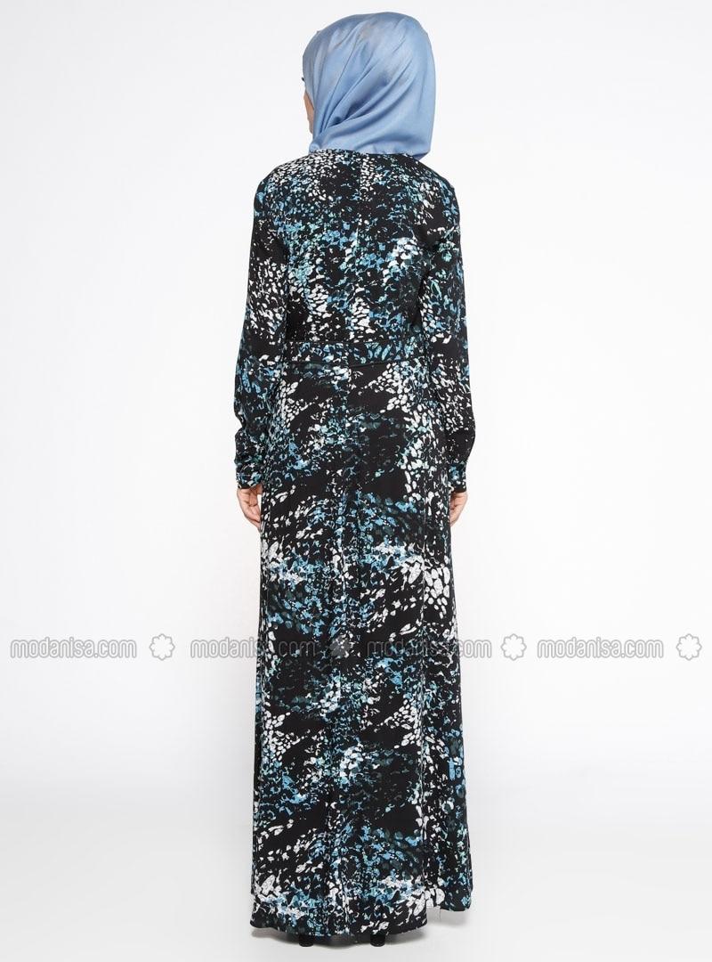 Kleid blau viskose