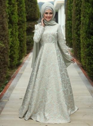 Fulya Abiye Elbise - Mint Yeşili