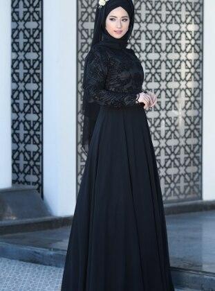 Hafsa Abiye Elbise - Siyah