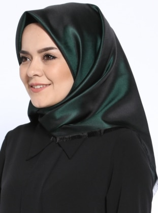 Green - Black - Plain - Scarf - Mervin Şal