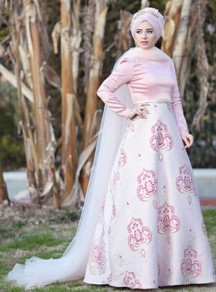 Thalia Abiye Elbise - Pudra