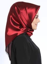 Black - Maroon - Plain - Scarf