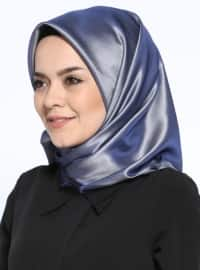 Plain - Gray - Navy Blue - Scarf