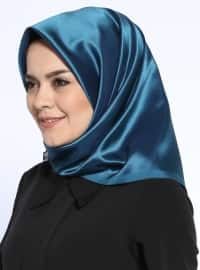 Petrol - Navy Blue - Plain - Scarf