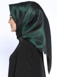 Green - Black - Plain - Scarf