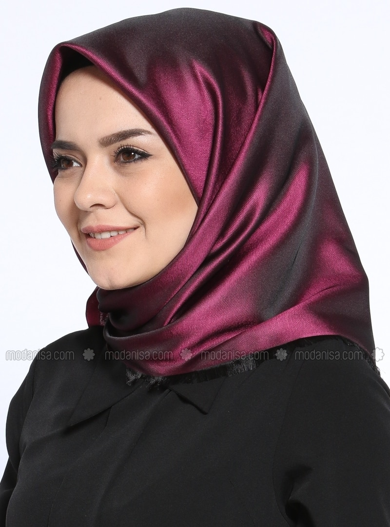 Black - Pink - Plain - Scarf