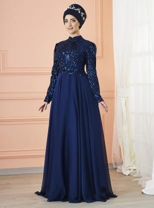 Eyşan Abiye Elbise - Lacivert