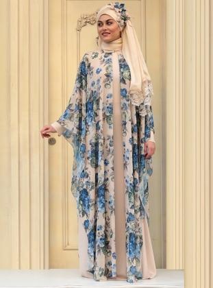 Fulya Abiye Elbise - Turkuaz Zehrace