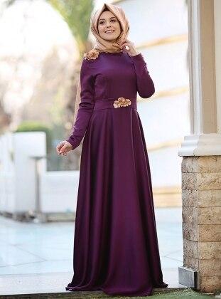 Puqqa Madam Abiye Elbise - Mor