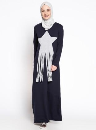 Yıldız Detaylı Spor Elbise - Lacivert