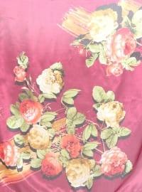 Pink - Multi - Floral - Printed - Voile - Scarf