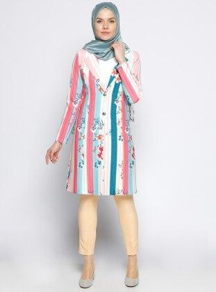 Multi - Multi - Pink - Blue - Unlined - Shawl Collar - Jacket