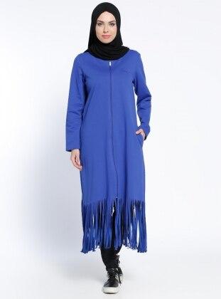 Fermuarlı Kap - Mavi