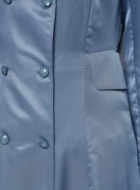 Unlined - Navy Blue - Blue - Crew neck - Topcoat