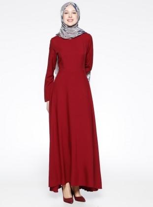 Kloş Etekli Elbise - Kırmızı Bislife