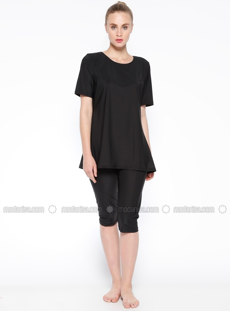 Black - Fully Lined - Half Covered Switsuits - NEHAR