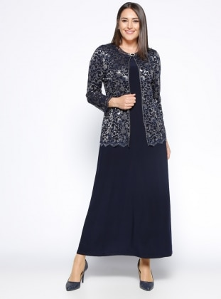 Ceket&Elbise İkili Takım - Lacivert