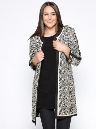 Ceket&Tunik İkili Takım - Siyah Gold