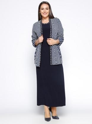 Arıkan Elbise&Ceket İkili Takım - Lacivert