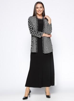 Arıkan Elbise&Ceket İkili Takım - Siyah