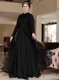 Saliha Efsun Abiye Elbise - Siyah - Saliha