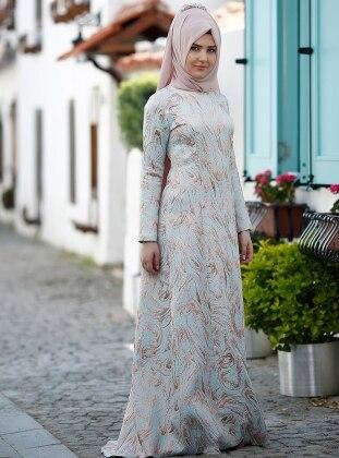 Hale Abiye Elbise - Mavi