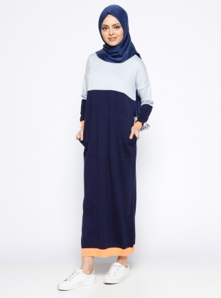 Mevsimlik Elbise - Mavi Lacivert