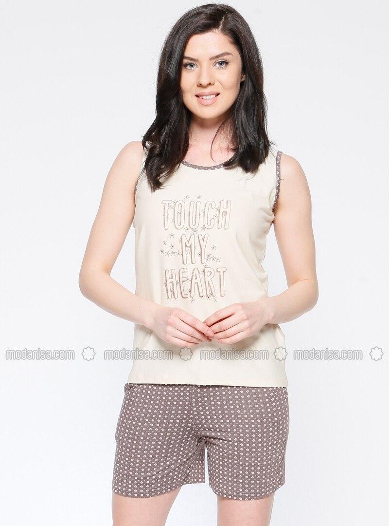 Crew neck - Beige - Minc - Multi - Pyjama